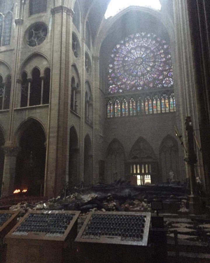 These are but some of the damages caused by the fire last night at #Notre_dame_de_Paris #notredameparis