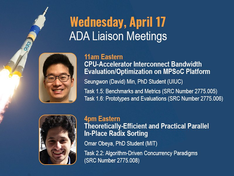 All ADA sponsors are invited to tomorrow's task liaison WebEx meetings at 11am and 4pm Eastern. Details at https://adacenter.org/index.php/liaison-meetings …. We hope to see you there!