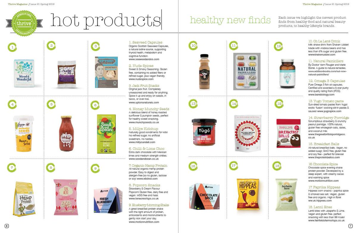 No2: Who made our HOT PRODUCTS inside Spring issue? Oh you'd like to know would you! #HealthyLiving #Foodiechats Spring issue out to buy now. Digital or Print - grab your copy.