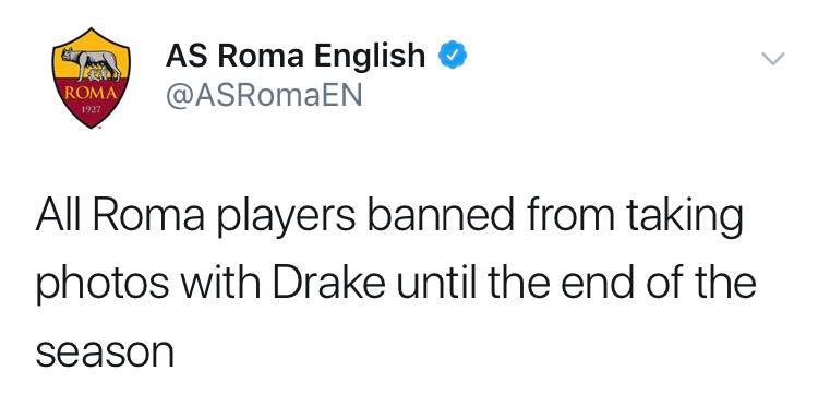 Roma taking the necessary precautions😂😂