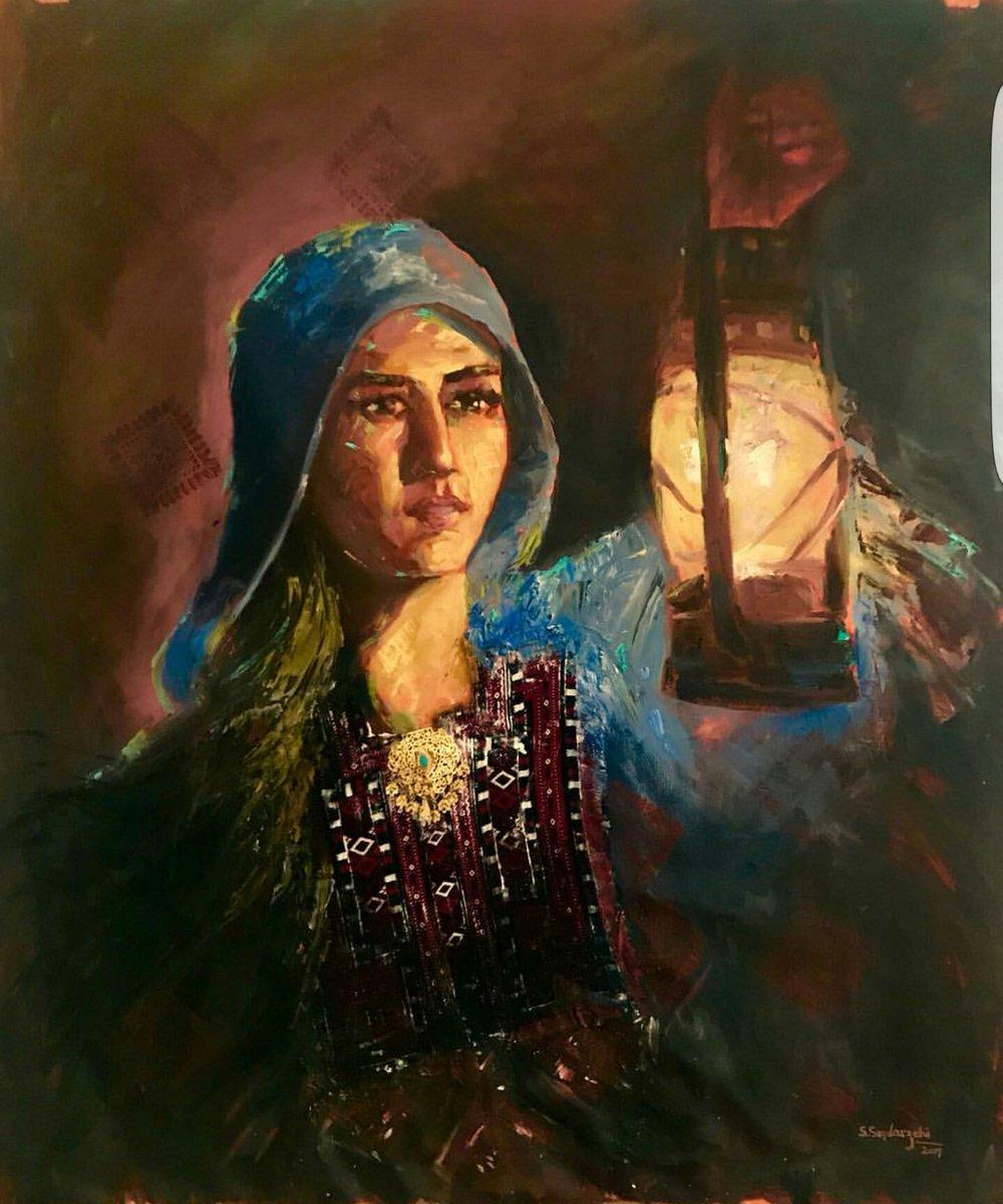 An Art by Seema Sadarzehi Baloch from Chahbar, Sestan Balochistan. #WorldArtDay  #BalochArt  #Balochistan<br>http://pic.twitter.com/olyz7cvGPE