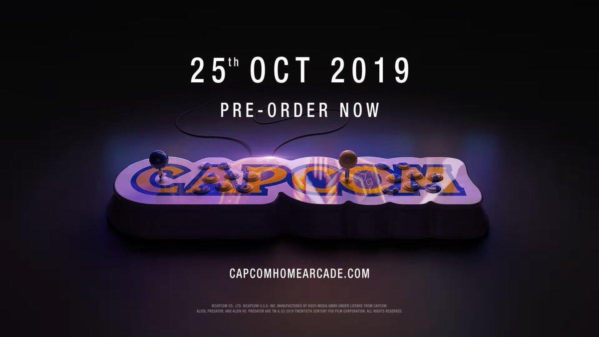 Capcom home arcade announced