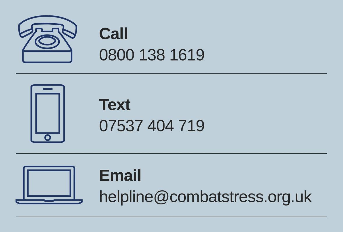 Combat Stress's photo on #charitytuesday