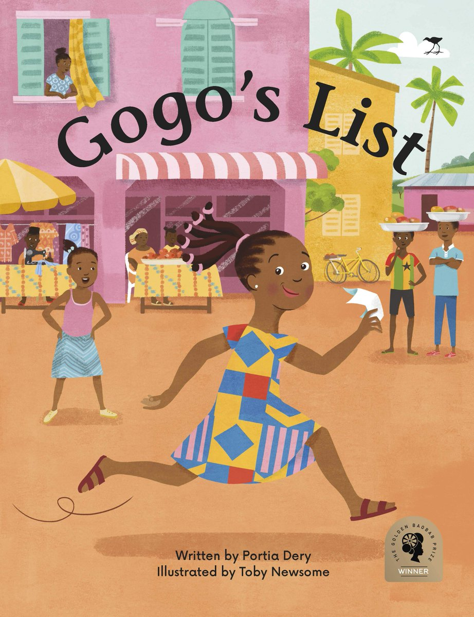 Winner of the @GoldenBaobab Prize and first published in Ghana, 'Gogo's List' has now been brought to South Africa to delight children and adults alike:  https:// bit.ly/2Pl3htf     <br>http://pic.twitter.com/M14TXPEPJy