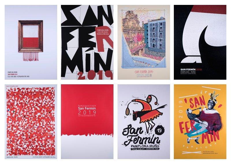 Hona hemen 2019ko #sanferminak iragartzeko 8 kartel finalistak! ¡Aquí están lo 8 carteles finalistas para anunciar #SF19!  Dagoeneko bozkatu dezakezu zure gustukoenaren alde! http://www.sanferminoficial.com/eu/eman-botoa-irudia…  Ya puedes votar por tu favorito! http://www.sanferminoficial.com/es/votacion-carteles…