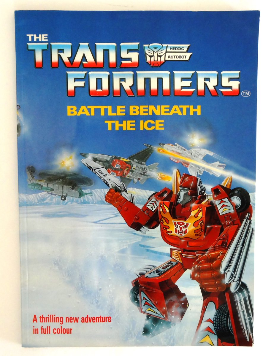 Battle Beneath the Ice by Corgi Books, UK 1987. All transformers are drawn toy accurate and it features a talking ravage. #transformers #g1transformers #hotrod #g1