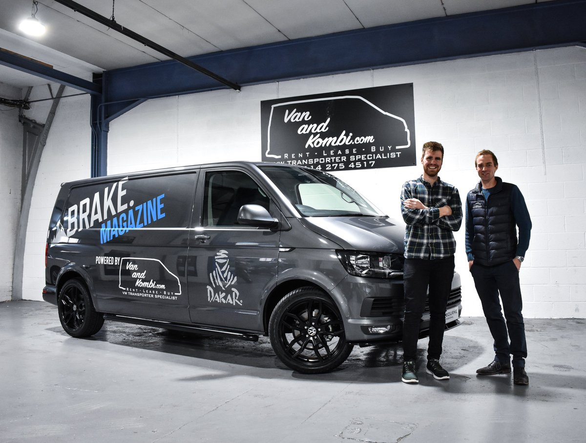 Last week @ThatCameraKid from @wearebrake collected their 2019 T6! The team will be taking on the legendary @dakar 2020 and using their Westbourne Edition Transporter for moving bikes and Brake Magazine photo shoots. This is definitely going to be the coolest van in the paddock!<br>http://pic.twitter.com/F5z1wST2ge