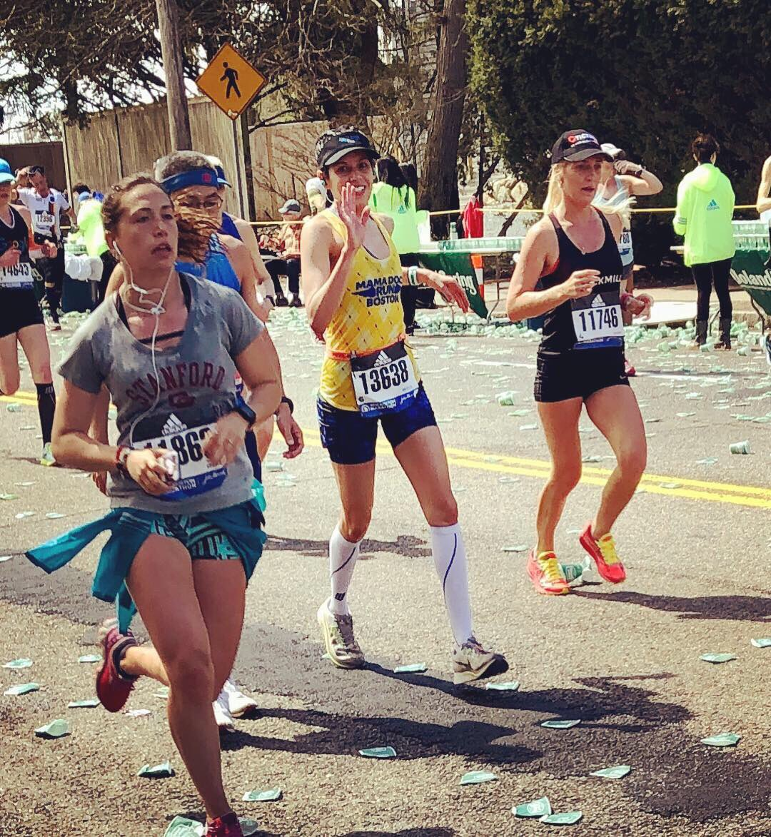 """I had this little race yesterday... and it was epic.  Not in the way of finishing times, but of appreciation for what my body can do after injuries and in hard conditions on a tough course.   """"Those who sow with tears will reap with songs of joy."""" Psalm 126:5 #BostonStrong <br>http://pic.twitter.com/9MH2VT4WIW"""