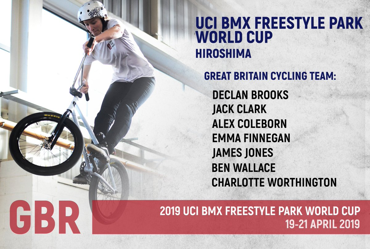 The Great Britain Cycling Team are in action this weekend at the first @UCI_BMX_FS World Cup of the season in Hiroshima 🇯🇵  Here are the riders heading to Japan to fight for Olympic qualification points and the World Cup win...  The 🇬🇧 team ⬇️