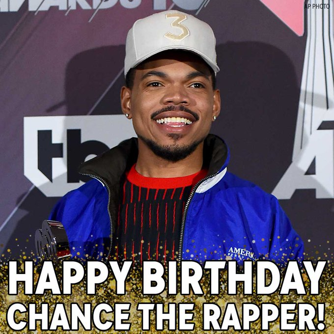 Happy Birthday, Chance the Rapper! We hope the three-time Grammy winner has a great day.