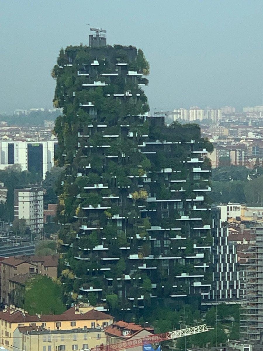 So können Hochhäuser auch aussehen :-) #vertikalerWald #Mailand #Milano #StefanoBoeri