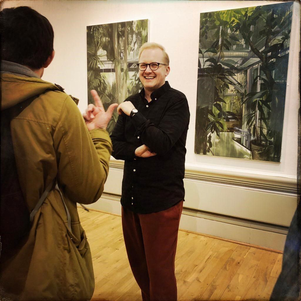 Book onto a Curator tour with @garthgratrix on Saturday 20th April or Saturday 18th of May and get an insight into the stories and meanings behind the pieces in our latest contemporary art show. Free tickets: https://buff.ly/2IzYdjk  #HarrisContemporary