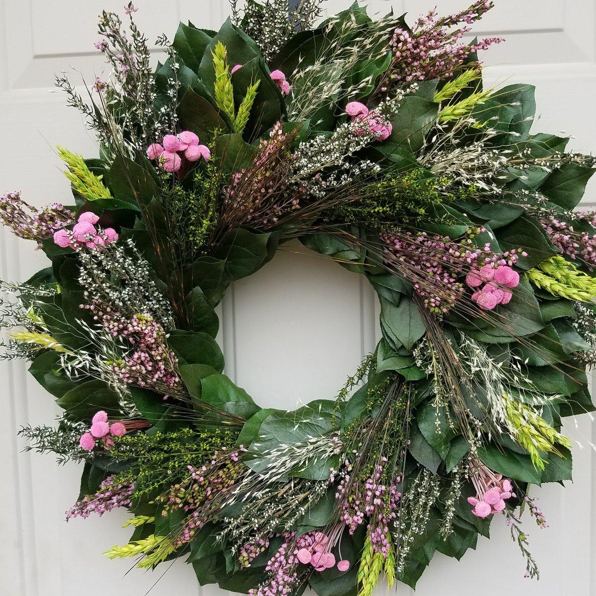 Spring natural preserved wreath #eucalyptuswreath #pinkwreath #mothersday #momgift<br>http://pic.twitter.com/umklSAvUXO
