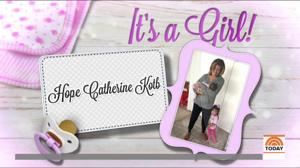 Some very happy news from our @hodakotb – she's adopted another baby girl!  And she has the sweetest name.