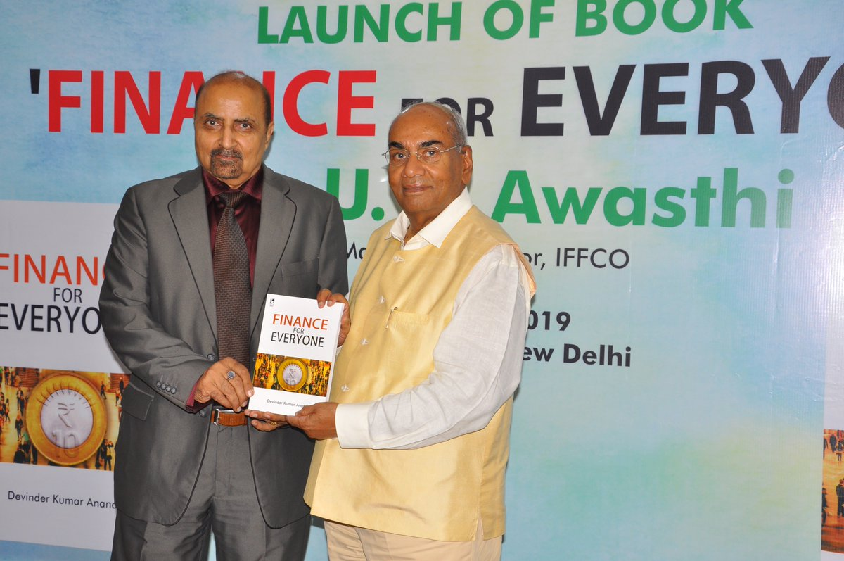It was my pleasure to launch a book on finance named Finance For Everyone written by Sh. Devinder Kumar Anand, Former ED (F&A) & Secretary at SAIL. An interesting compilation; useful for those who are unfamiliar with the corporate finance. Congratulations Sh. Devinder Anand.