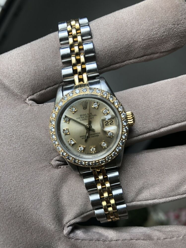 3e3e7353660 Rolex Lady DateJust 69173 26mm Diamond Bezel & Diamond Dial: $2,875.00 End  Date: Wednesday May-15-2019 22:34:36 PDT Buy It Now for only: $2,875.00 Buy  It ...