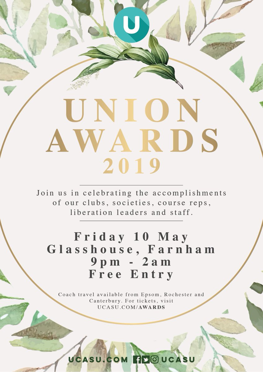 test Twitter Media - The UNION AWARDS are only a month away!  Coach tickets are available for students from Epsom, Rochester and Canterbury campuses.  Check out the nominees and book your coach tickets online at https://t.co/E21D9Hu7DD https://t.co/TUs1diqkQv