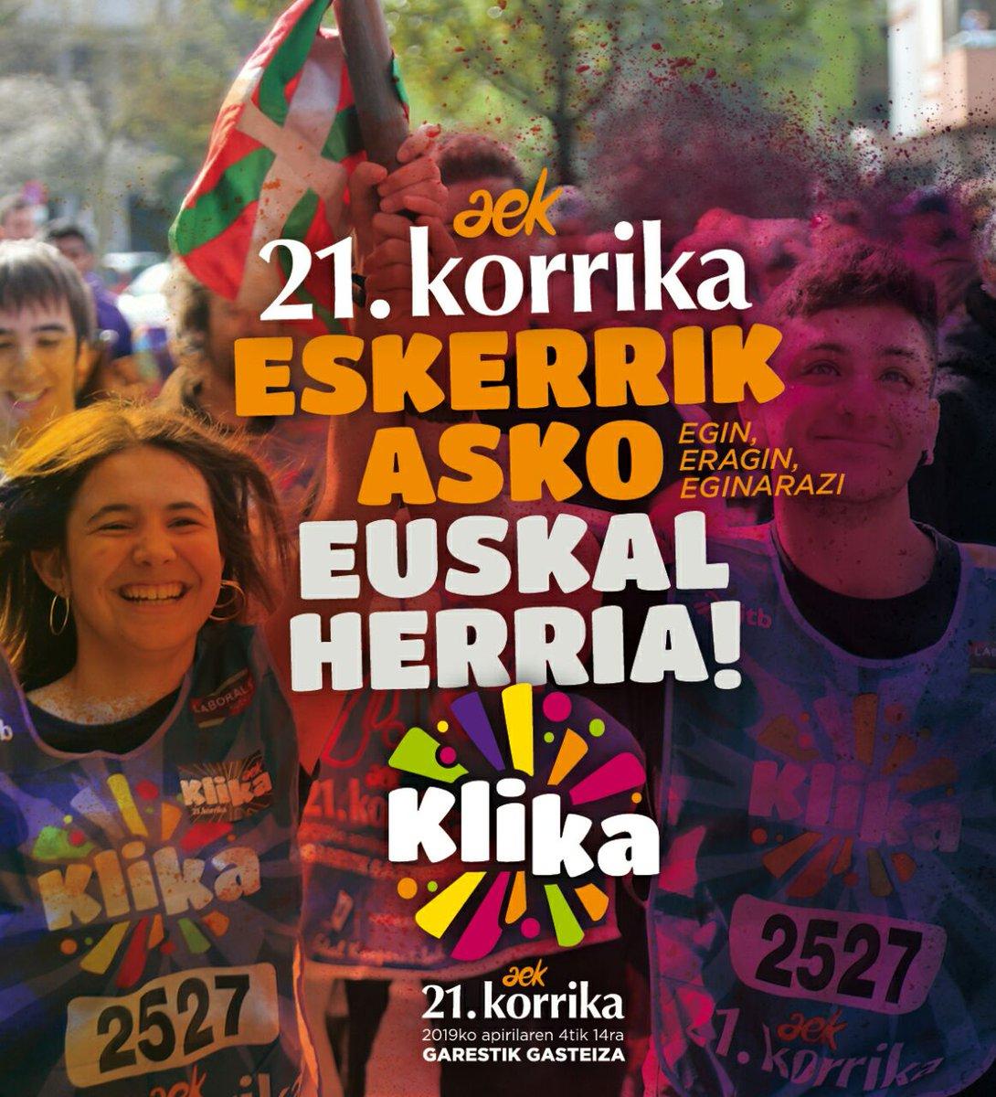 Eskerrik asko, Euskal Herria! #Klika #korrika #KORRIKA21