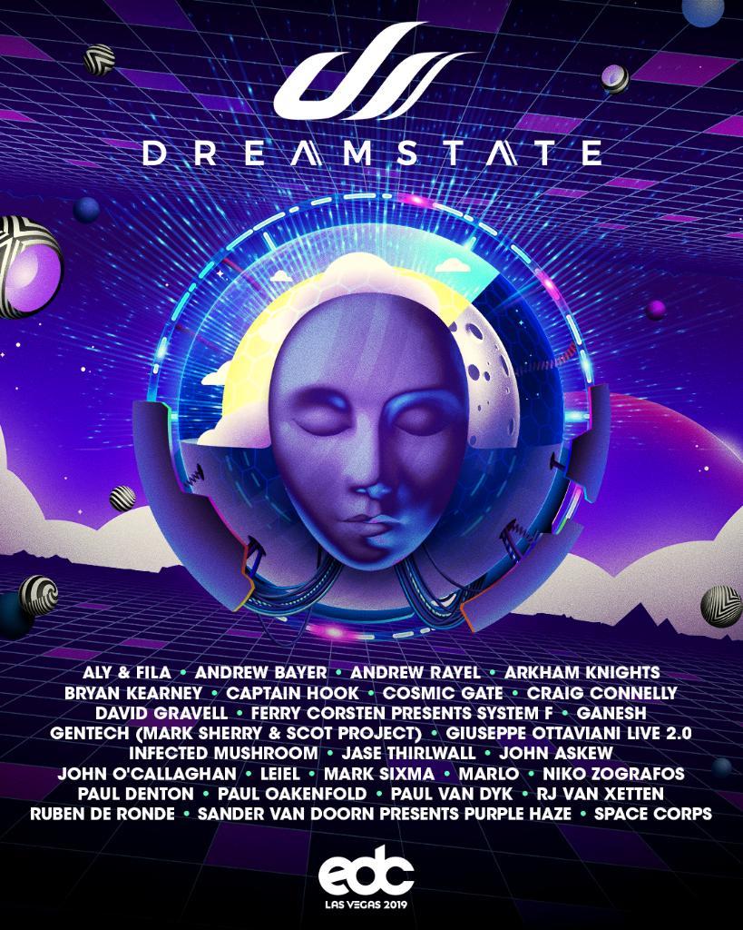 EDC Las Vegas Dreamstate lineup