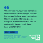 Meet Erin. She's a REALTOR®. And she has a story to tell. NAR's national ad campaign, #ThatsWhoWeR, puts the spotlight on our members. Follow the link to read the rest of Erin's inspiring story, plus submit your own story and tell us who you R!https://t.co/PNv3eExffY