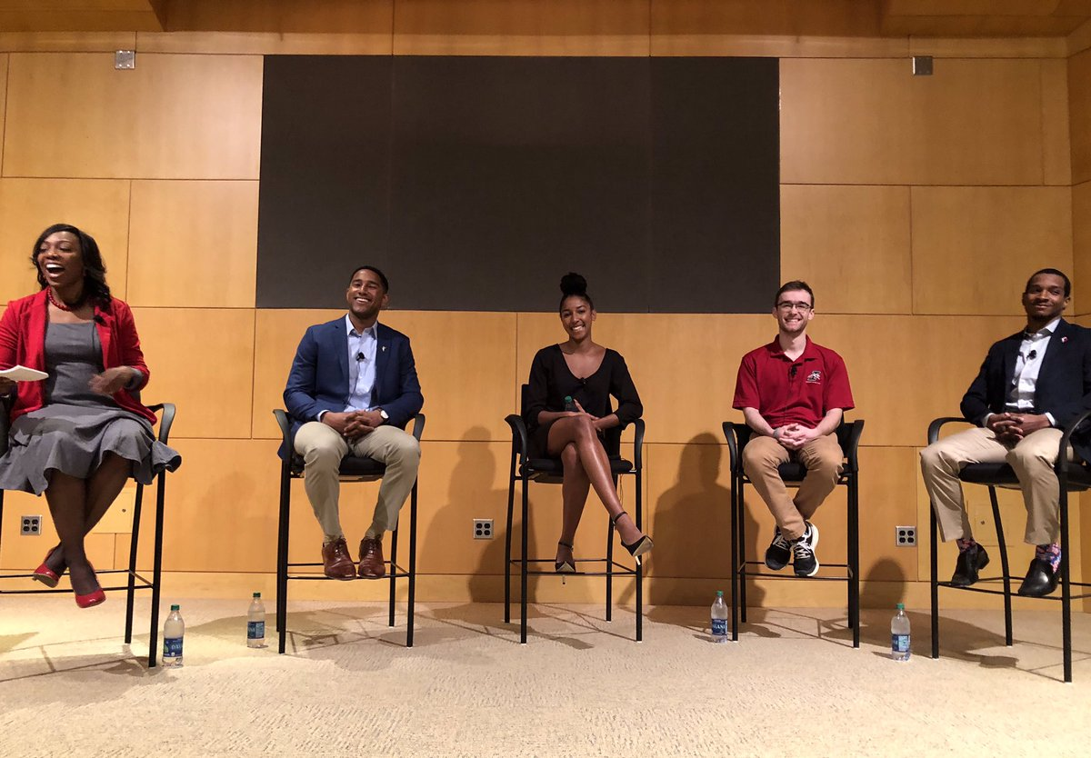 Student-athletes from all three divisions joined national office staff members today for candid conversations about their experiences in college athletics.