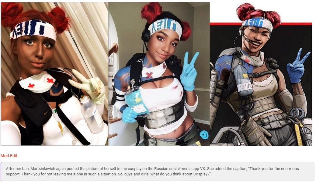Twitch streamer banned for using blackface in apex legends cosplay