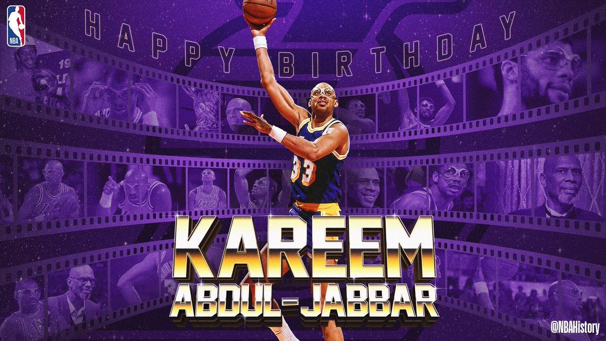 Join us in wishing...  - 19x #NBAAllStar - 6x NBA MVP - 6x NBA Champion - 2x #NBAFinals MVP - All-time leading scorer   ...@kaj33 a Happy 72nd Birthday! #NBABDAY
