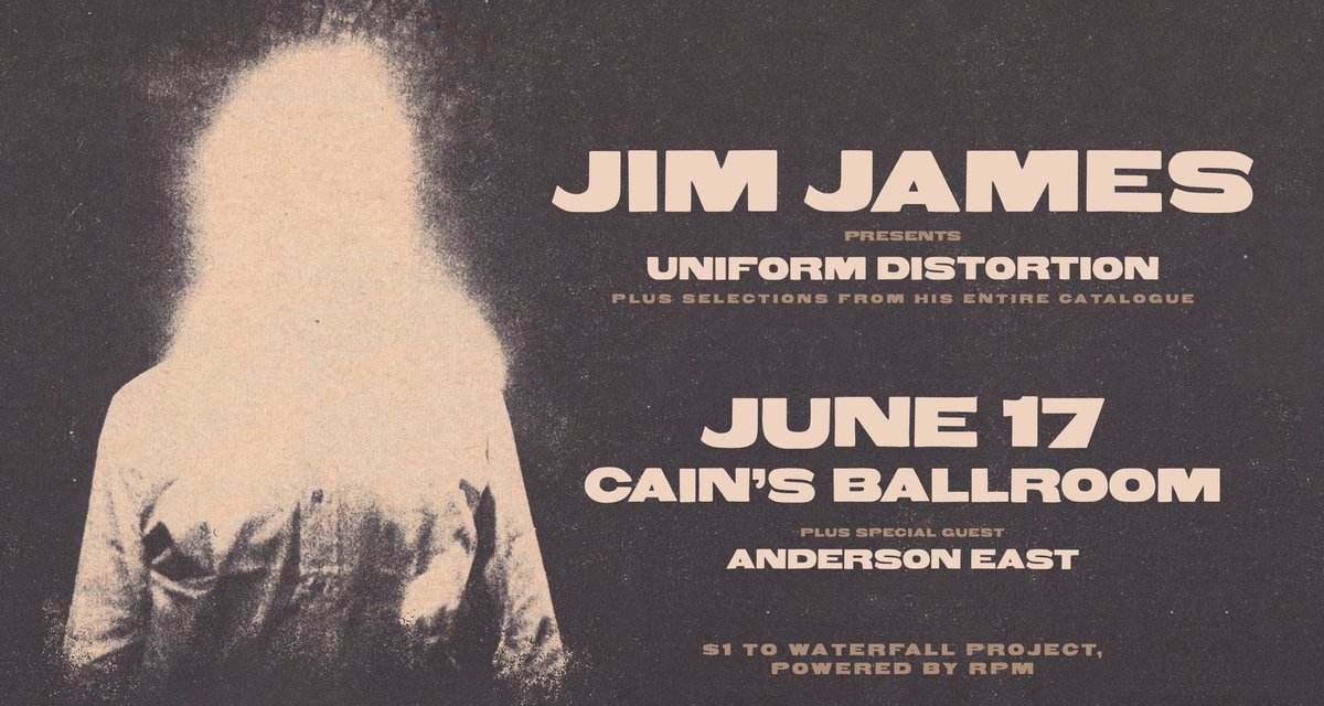 Announcing @JIMJAMES #UniformDistortion on June 17 with @Andersoneast!  Tickets on sale Friday... https://www.facebook.com/events/580092835819070/ …