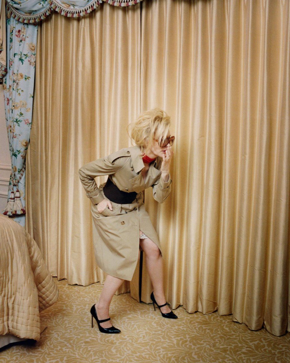 ae30d3f5892 in venetia scott captures cate blanchett in the corset belt trench coat  from riccardo tisci s