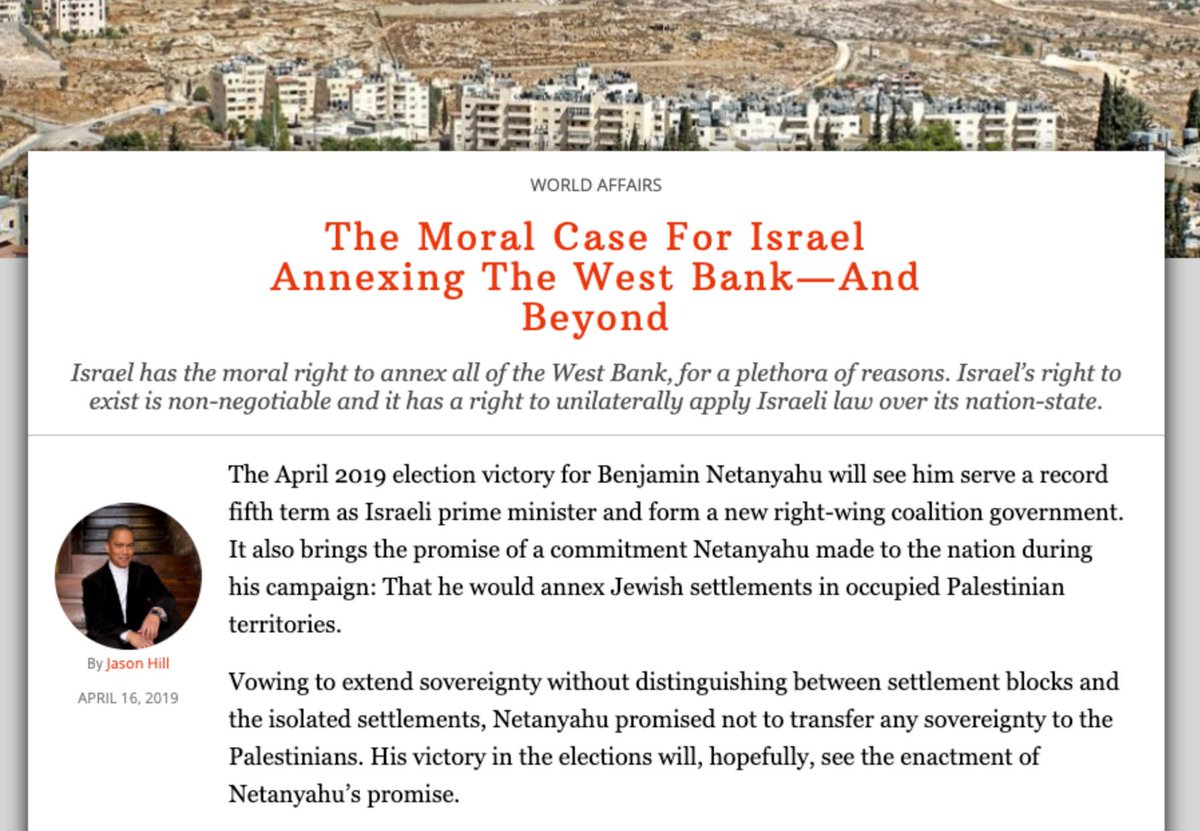 Image result for The federalist, a case for Israel annexing the West Bank