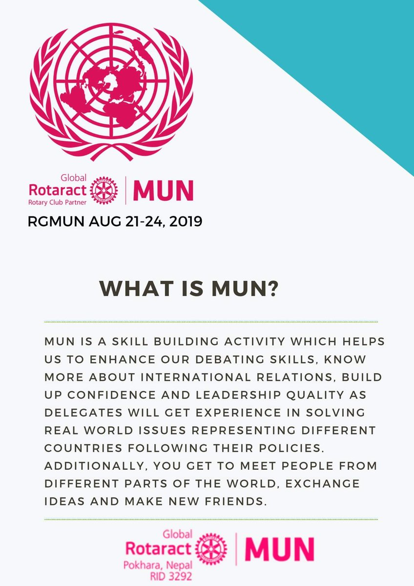 What is MUN??  #RotaractMUN #enroutePokhara #VisitNepal2020  #Nepal