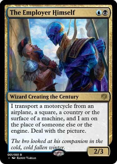 For real, if your employer does this? Don&#39;t just deal with the picture. Get a new job.  #MtG #GoogleTranslatesMtG #SoulDiviner #MTGWAR  Art by: @VargasNi<br>http://pic.twitter.com/ThncZQvT5S