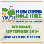 🚨BIG NEWS!🚨 The UGF is participating in the 2019 @yocgolf Hundred Hole Hike on Mon, Sept 30th @forelakes! 👏🏻  ANYONE can our team and play 100 holes with us. All proceeds raised that day support Utah YOC. ⛳️ Join team #Utahgolf or pledge today. Link in bio. 🔗 #YOCH3