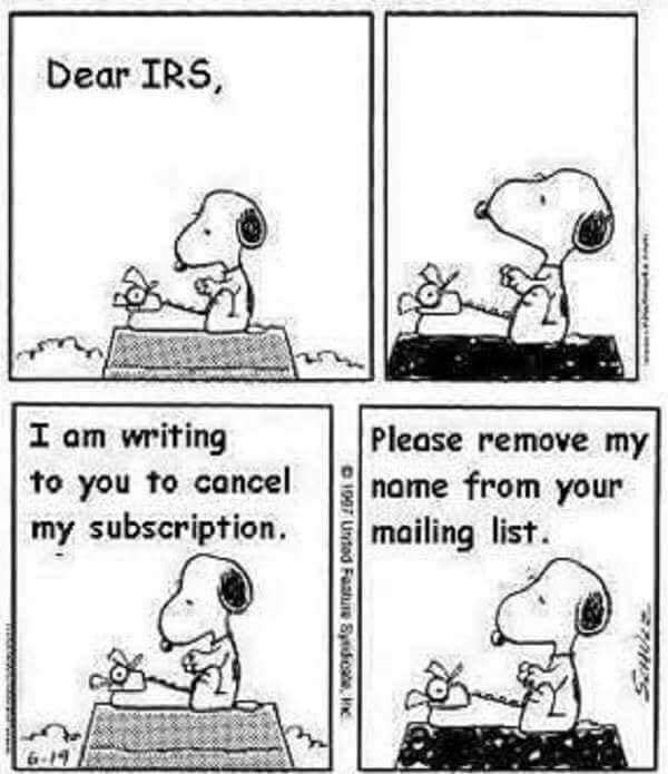 Dear IRS, you suck. Bye! #TaxationIsTheft <br>http://pic.twitter.com/q9QSyutE5l
