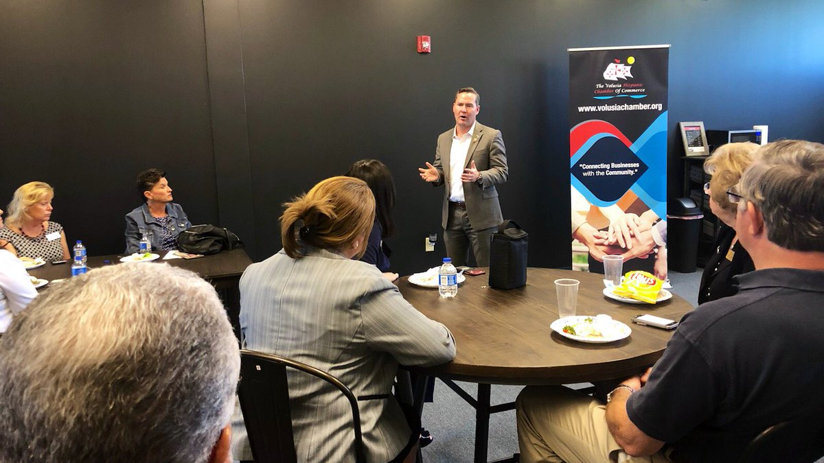 Thanks to all who took time to join me at the @Volusiachamber today. I know firsthand many of the challenges that come with building a business from the ground up. I'm committed to fighting for policies that help our businesses, workers and families prosper.