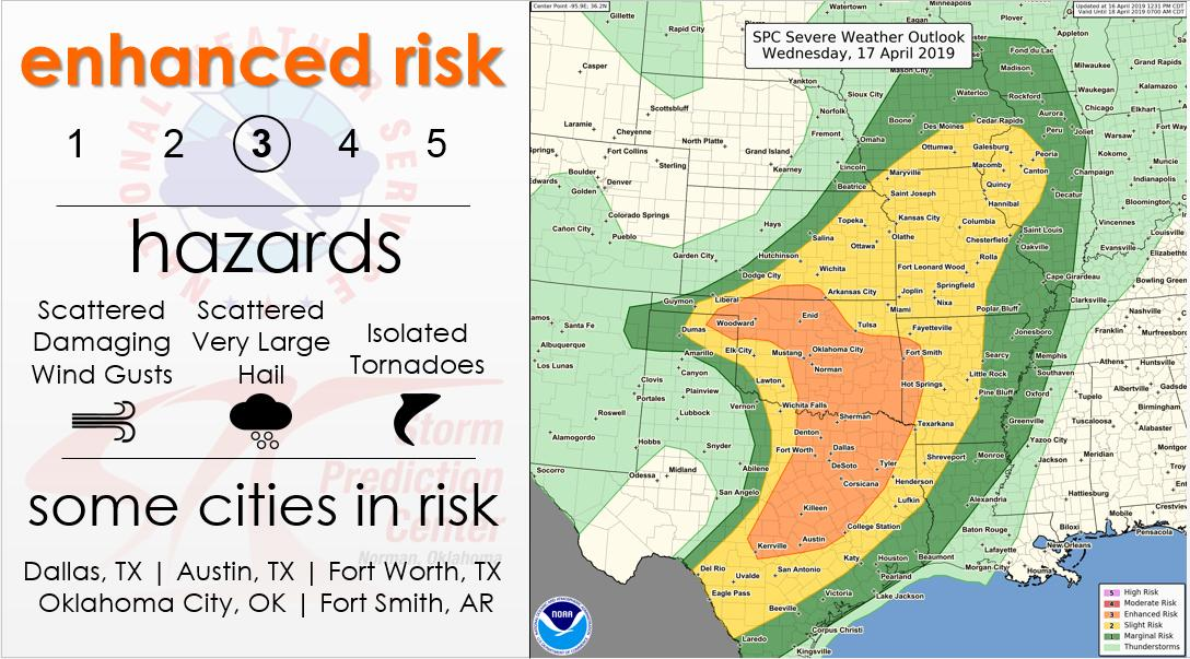 Map Of Texas Oklahoma And Louisiana.Nws Spc On Twitter 4 16 12 55 Pm Cdt Severe Storms Capable Of