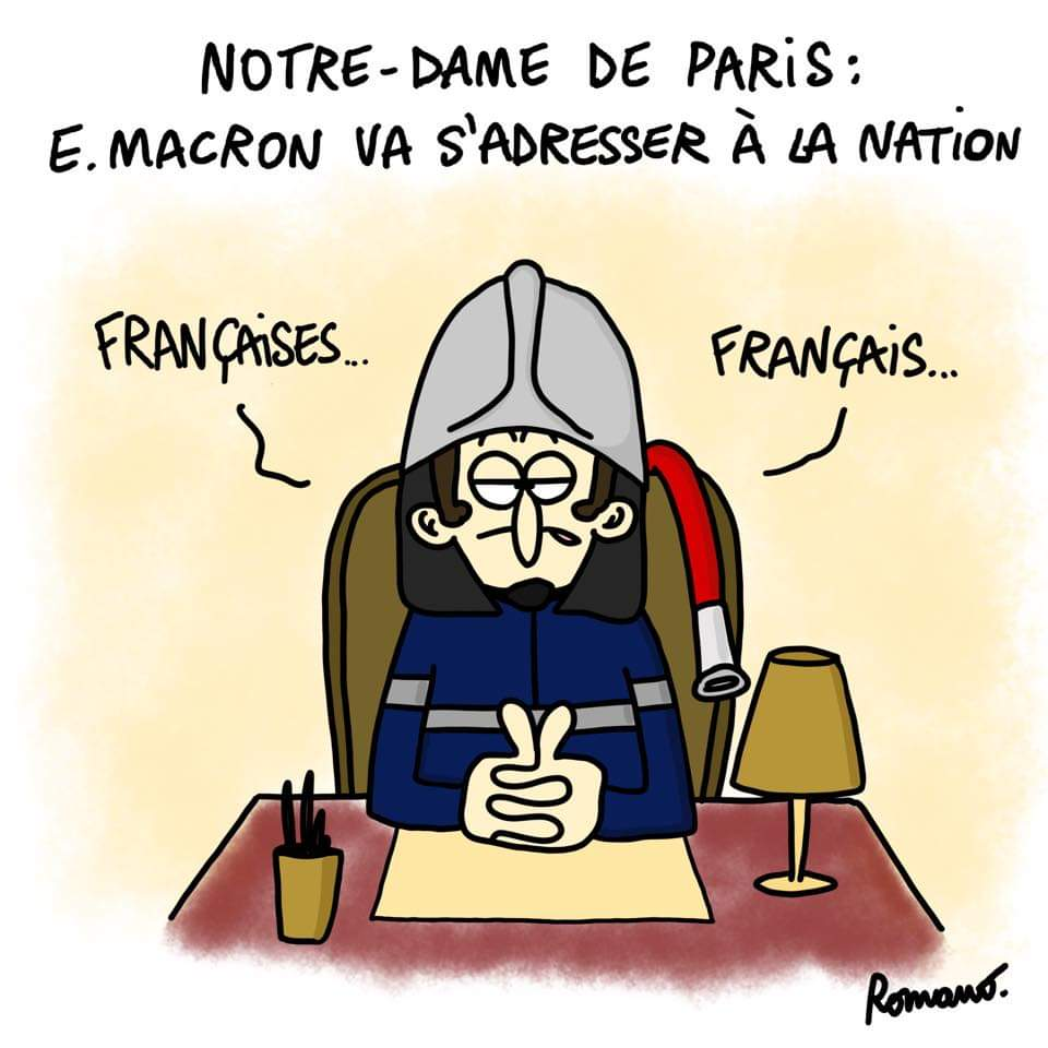 Sylvester Macron #notredamedeparis #Actu #macron20h <br>http://pic.twitter.com/cTfpvrxIVO