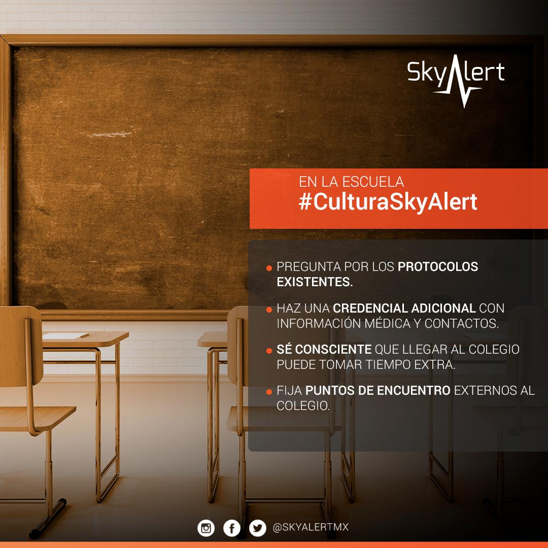 Platica con tus hijos sobre qué hacer en caso de sismo e infórmate si la escuela ofrece un plan de prevención.  Usa tu #SkyAlertApp como una herramienta en favor de la prevención.   Descarga: https://bit.ly/2IocDUc  #MartesDePrevención