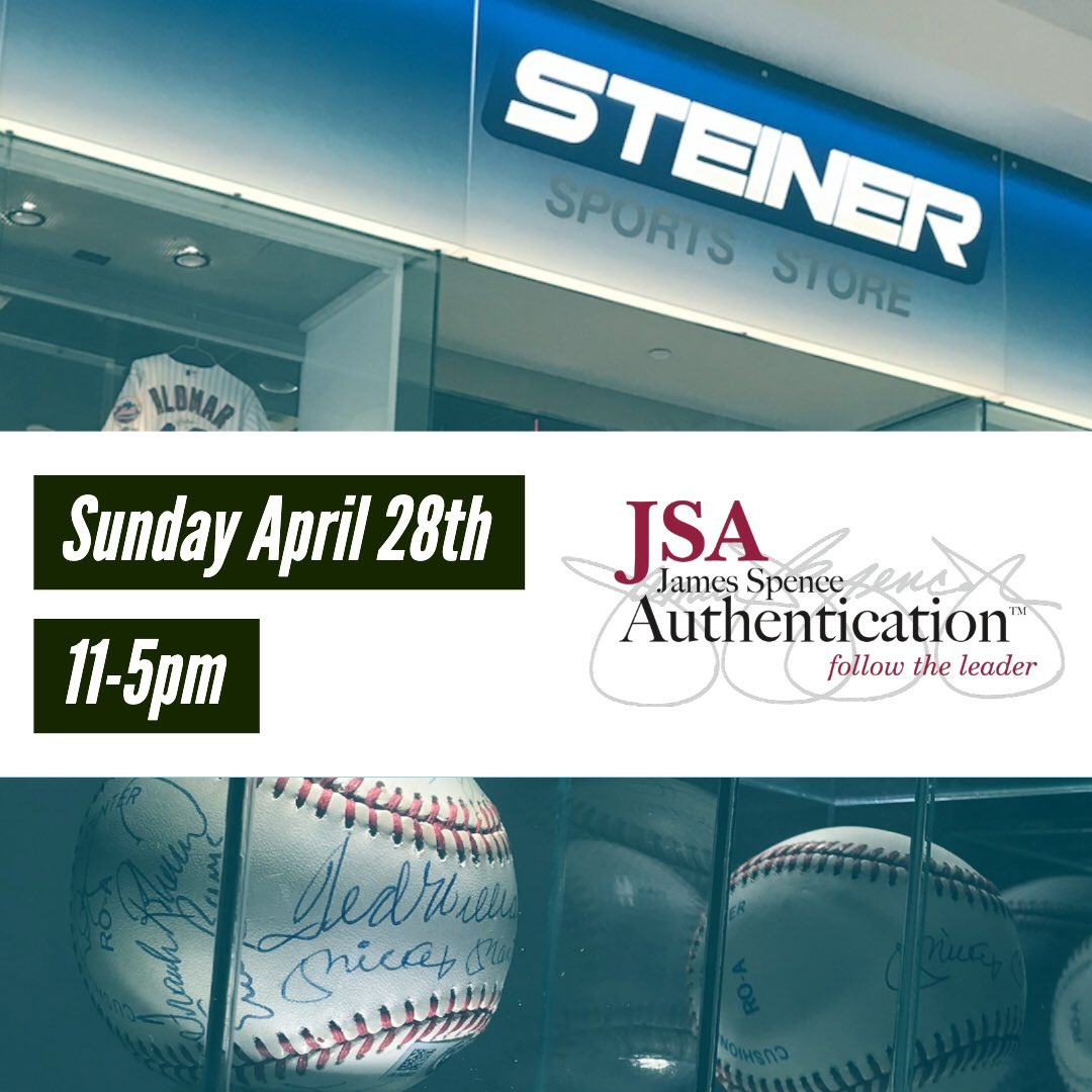 Who's coming to @steinerstoreny on SUNDAY 4/28 when @JSALOA will be HERE 11-5pm  NO APPOINTMENT NECESSARY‼️