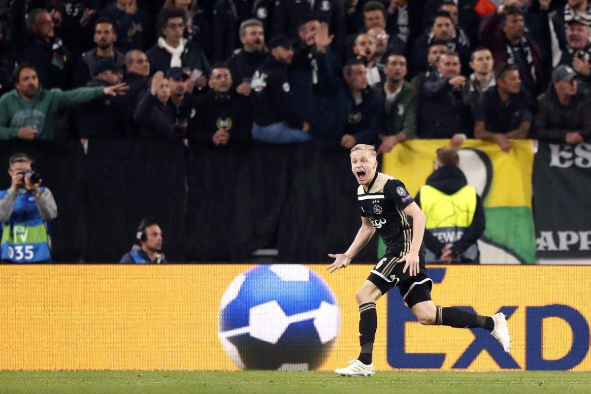 أياكس يسجل هدف التعادل في مرمى يوفنتوس - دوري أبطال أوروبا