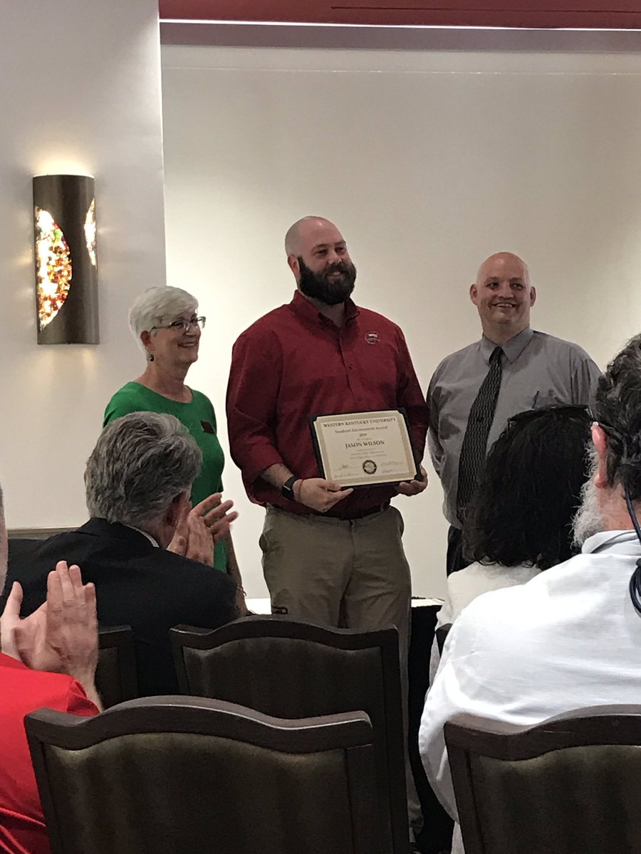 Congrats to CE Faculty member, Jason Wilson for winning the Ogden College of Science &amp; Engineering award for Student Advisement. #wkuengineering #civilengineering <br>http://pic.twitter.com/na8eIpy2ek