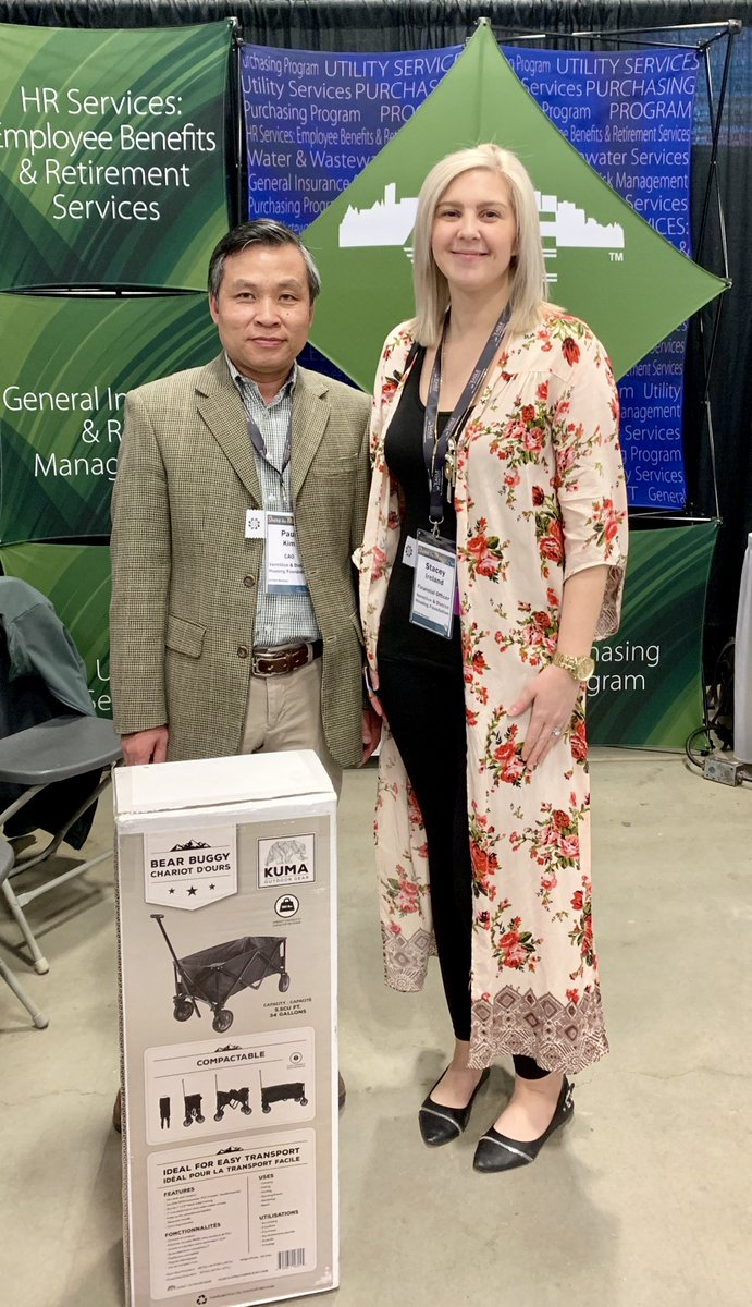 Congratulations to Stacey from Vermilion & District Housing Foundation who entered the AUMA draw & won this fabulous foldable wagon at @ABSeniorsLiving annual conference & trade show. Pretty good way to spend a Tuesday, no? #ASCHA19