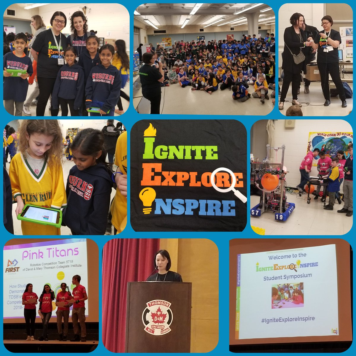 Awesome afternoon learning and getting inspired from each other at the #IgniteExploreInspire Student Symposium! Thank you to the committee for organizing an amazing event! @schan_tdsb @AnnikaPint @ThomasWMcKeown @MoePerera