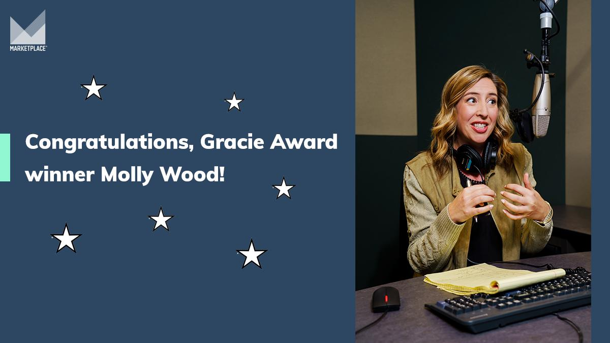 🔥😎 We're thrilled to share that  our very own @mollywood has been honored by #TheGracies for non-commercial radio host! @AllWomeninMedia
