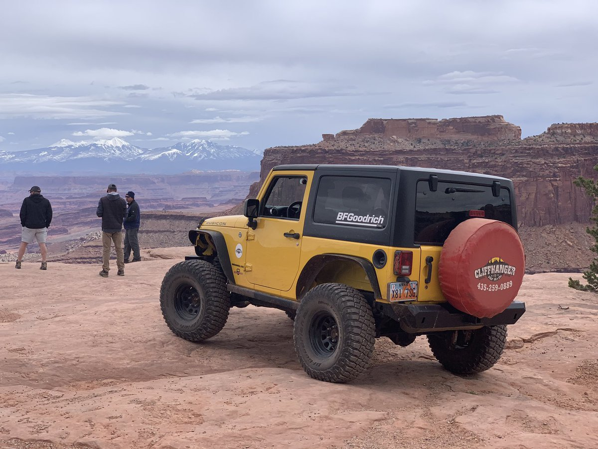 Awesome day in #Moab testing out the @bfgoodrichtires #KM3 during #EasterJeepSafari - #BuiltonBFG #moabutah #offroad #jeep #ejs2019<br>http://pic.twitter.com/CQts2Gjkzl &ndash; à Canyonlands National Park