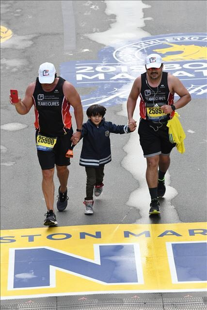 One of the fondest memories from #BostonMarathon2019 would be running the last mile with my son #mmsm @theMMRF @MMRFTeam4Cures , thanks to @KirkWilkerson for asking the Boston PD to allow us to do that! @LevineCancer<br>http://pic.twitter.com/kdY5BmZ5hd