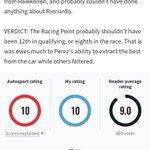 Luego del #ChineseGP 🇨🇳 la revista Autosport entregó un 1️⃣0️⃣ de calificación a @SChecoPerez por su actuación en #Shanghai y luego de 3 carreras, Checo es el segundo piloto mejor calificado por los especialistas de la publicación británica. ¡Felicidades, Checo! 👏 #Orgu11oMexicano