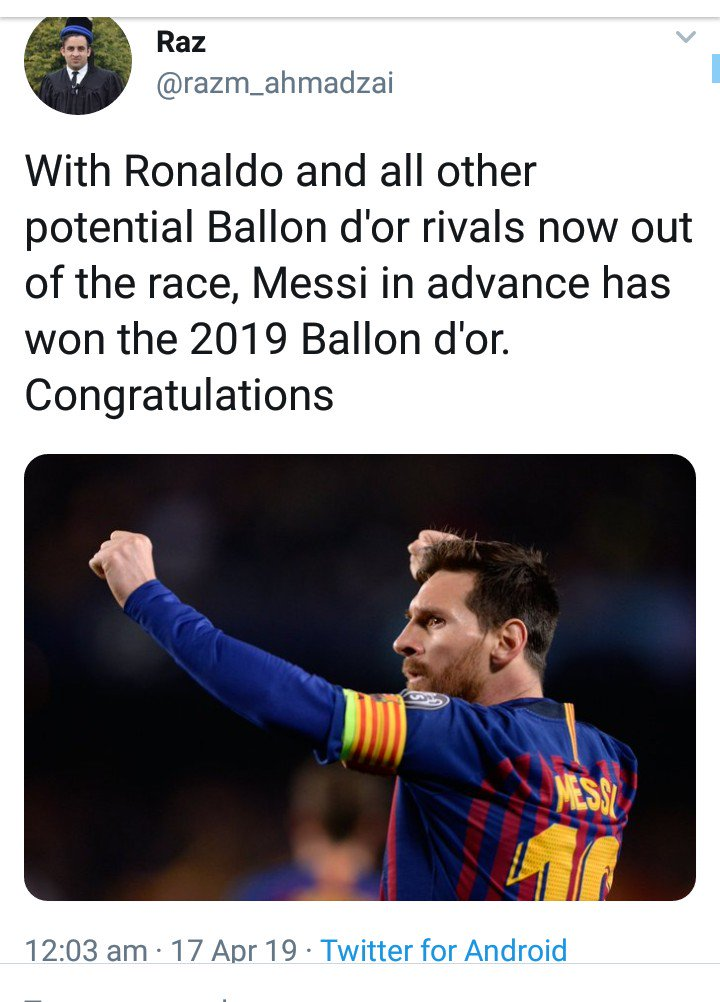 Ballon Dor Is Only Given To Humans  Ajax Messi  #BARMUN  Juve