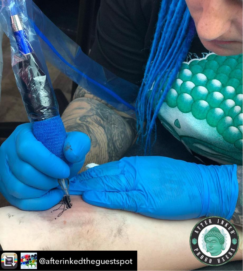 Shout out to our dear tattoo shop owners, tattoo artists & AFTER INKED Proud Users! #ShoutOut #tattooshop #tattooartist #tattooshops #afterinked #proudusers #formulatedforperfection #afterinkedeveryday #tattooaftercare #piercingaftercare #inkseal #npj #vegan
