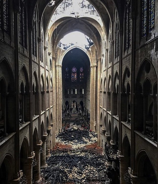 In its own particular way, this is a beautiful picture. What's eternal, and what's not. #NotreDame